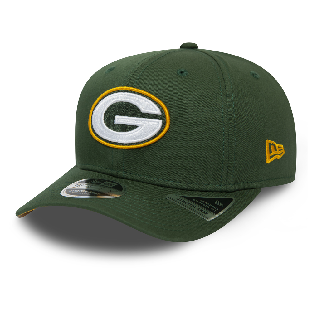 Cappellino Green Bay Packers Team Stretch Snap 9FIFTY verde