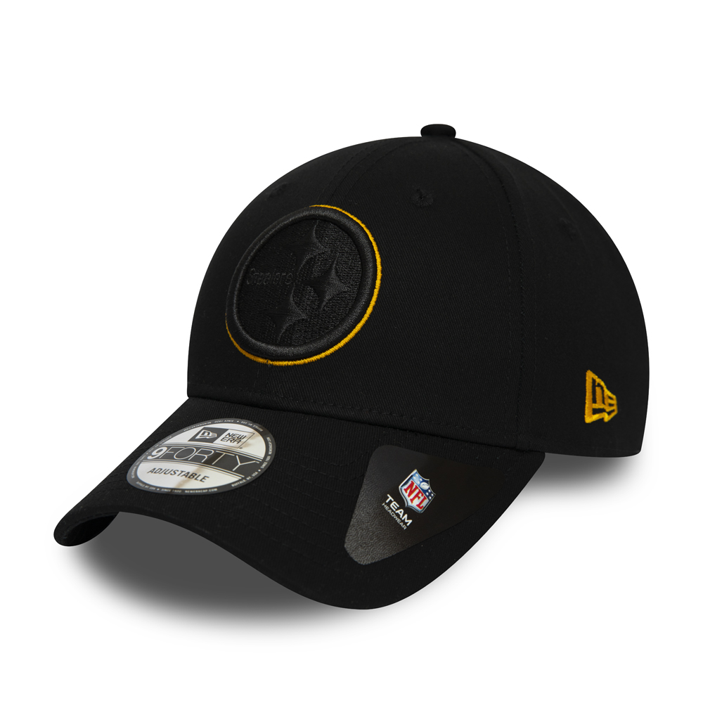 Pittsburgh Steelers Logo Outline Black 9FORTY Cap
