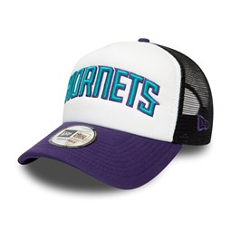 Charlotte Hornets Colour Block White A-Frame Trucker