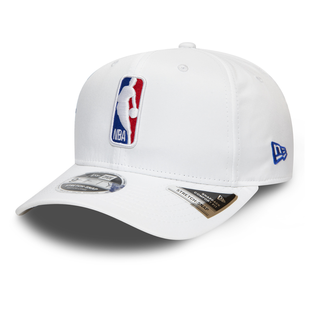 Gorra NBA Logo Stretch Snap 9FIFTY, blanco