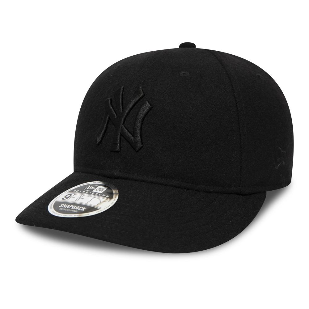 Casquette avec languette de réglage crantée 9FIFTY noire des New York Yankees