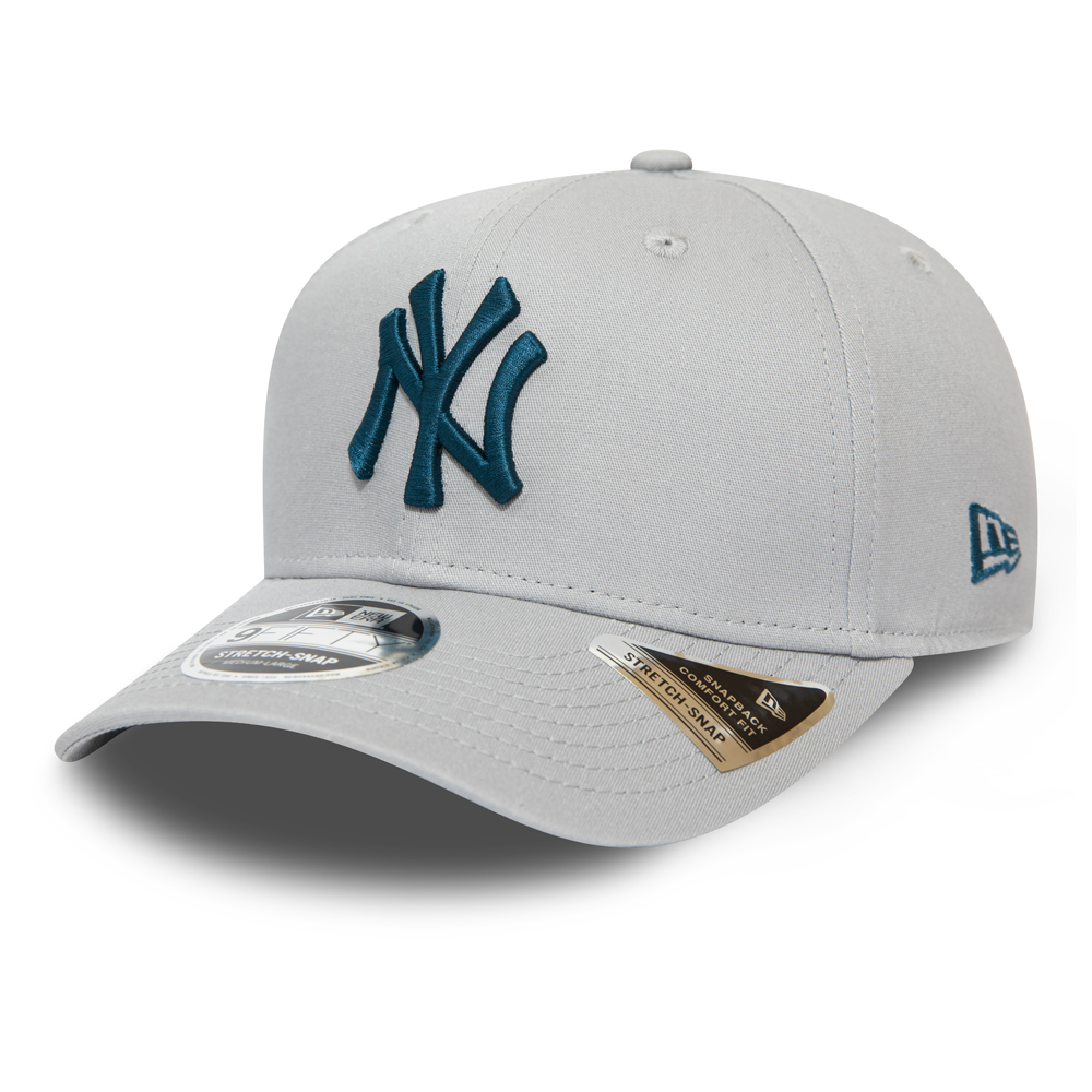 New York Yankees Grey Stretch Snap 9FIFTY Cap