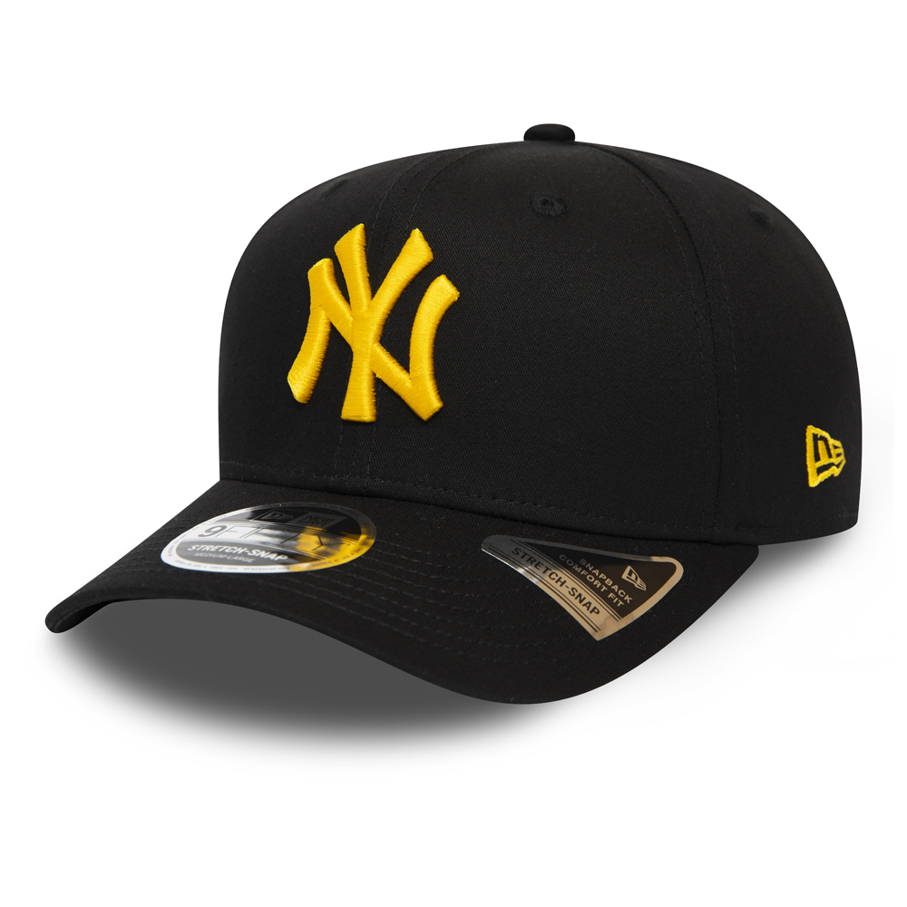 New York Yankees Black Stretch Snap 9FIFTY Cap