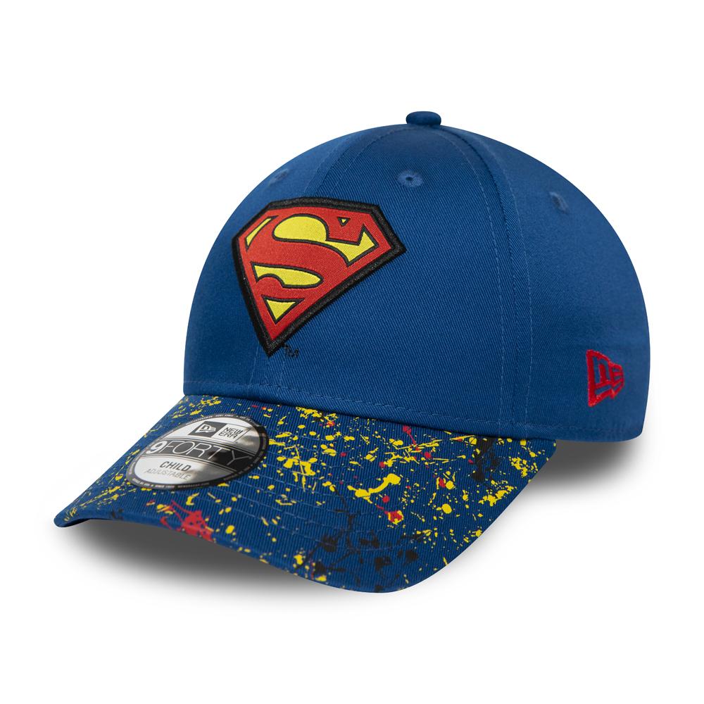 Gorra New Era Superman Splatter Visor 9FORTY, niño, azul