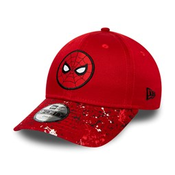 New Era Spiderman Splatter Visor Kids Red 9FORTY Cap