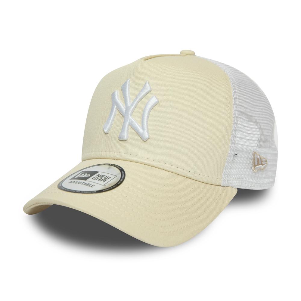 Casquette camionneur beige A-Frame New York Yankees