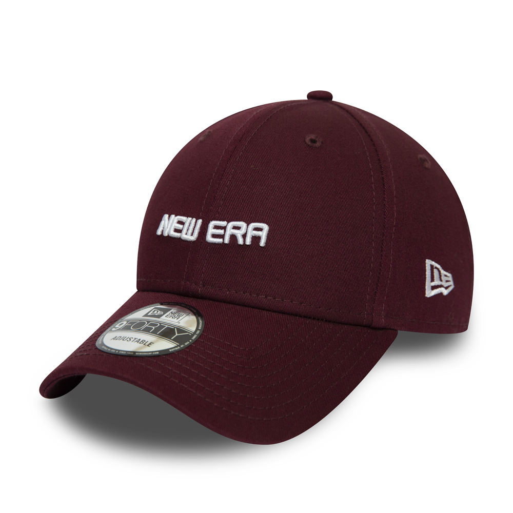 New Era Essential 9FORTY Kappe, Weinrot