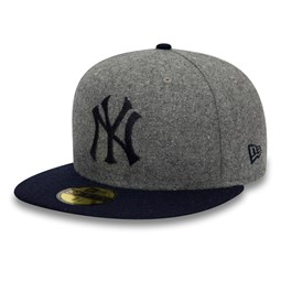 Casquette 59FIFTY Cooperstown Flannel New York Yankees gris