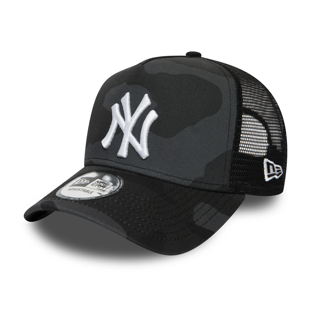 New York Yankees Mono Camo Essential A-Frame Trucker