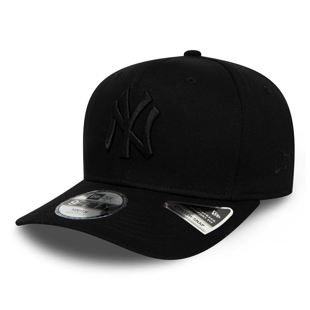 Casquette 9FIFTY extensible noire ton sur ton avec languette de réglage des Yankees de New York pour enfants