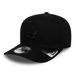 Los Angeles Dodgers Kids Tonal Black Stretch Snap 9FIFTY Cap