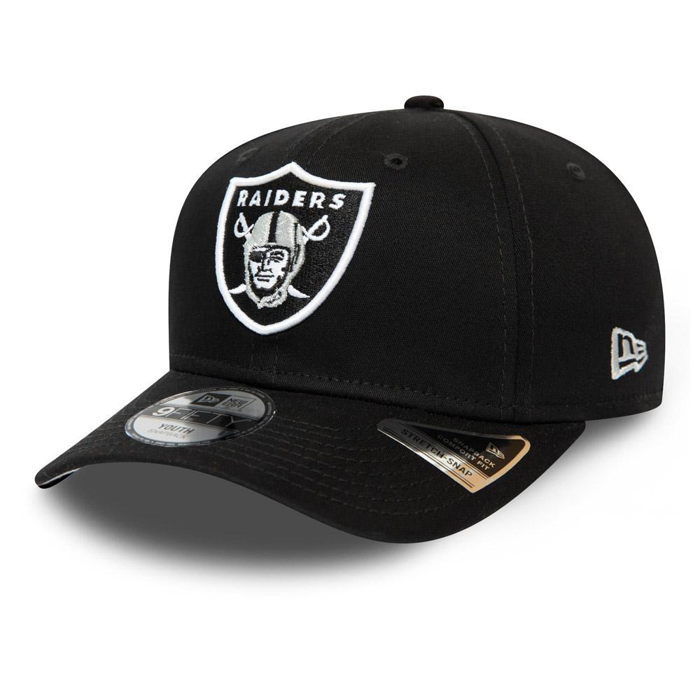 Casquette 9FIFTY noire extensible à languette des Oakland Raiders pour enfant