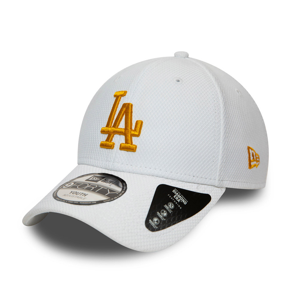 Gorra Los Angeles Dodgers Diamond Era 9FORTY niño, blanco