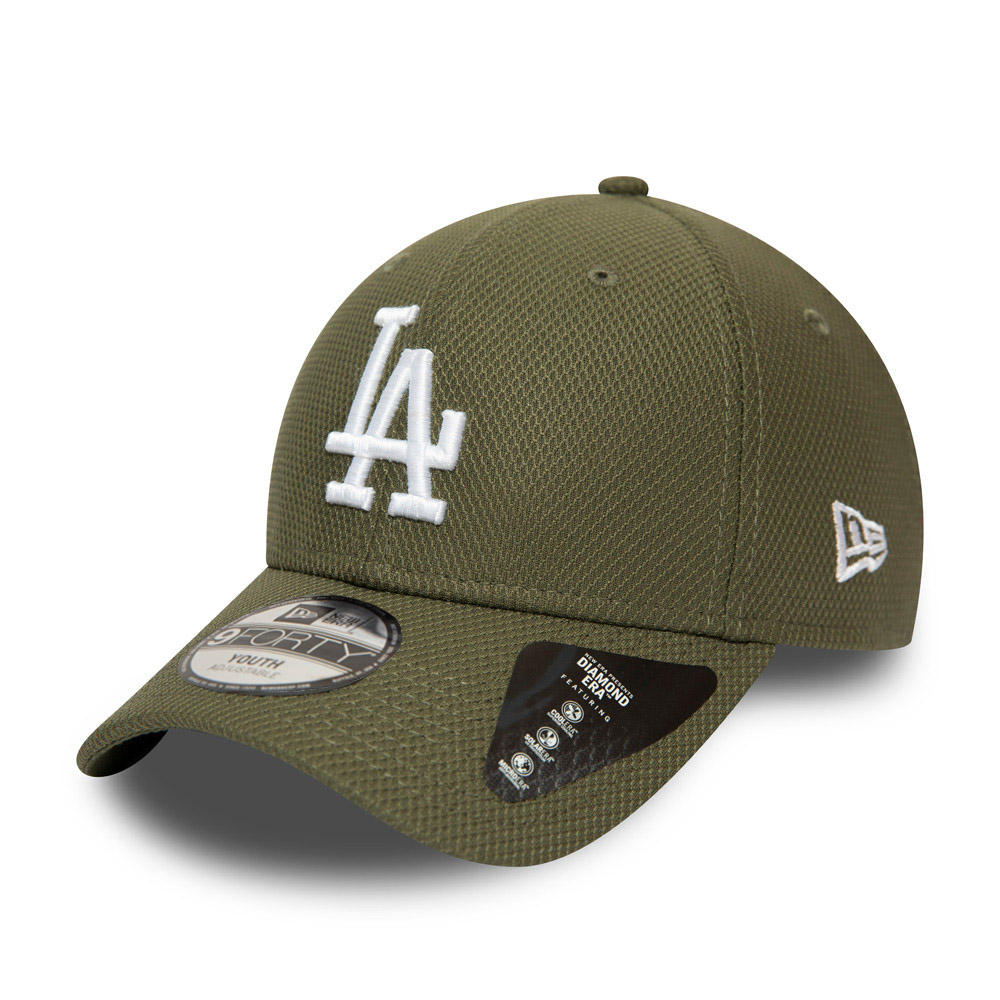 Gorra Los Angeles Dodgers Diamond Era 9FORTY, niño, verde