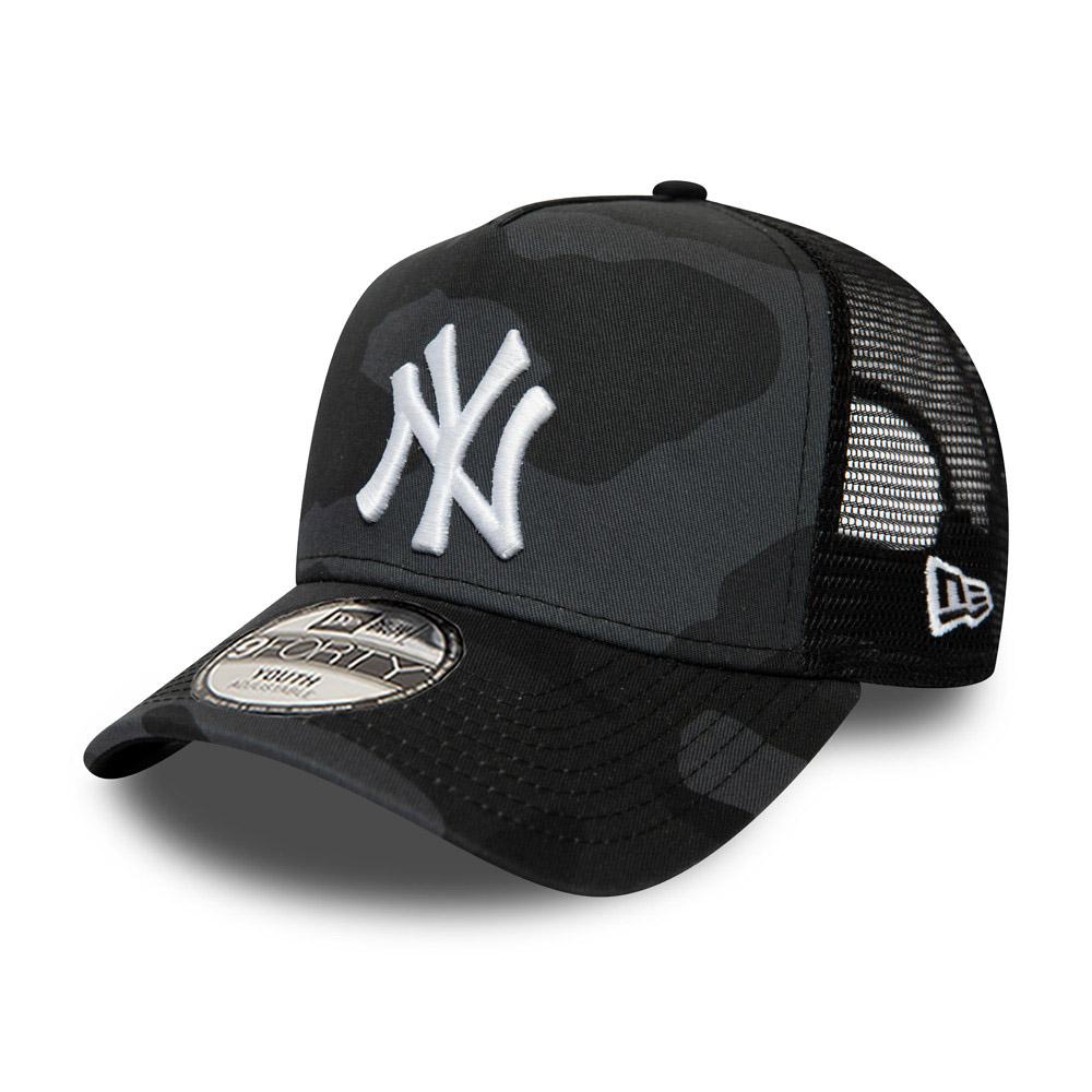 Casquette camionneur camouflage A-Frame essentielle New York Yankees pour enfant