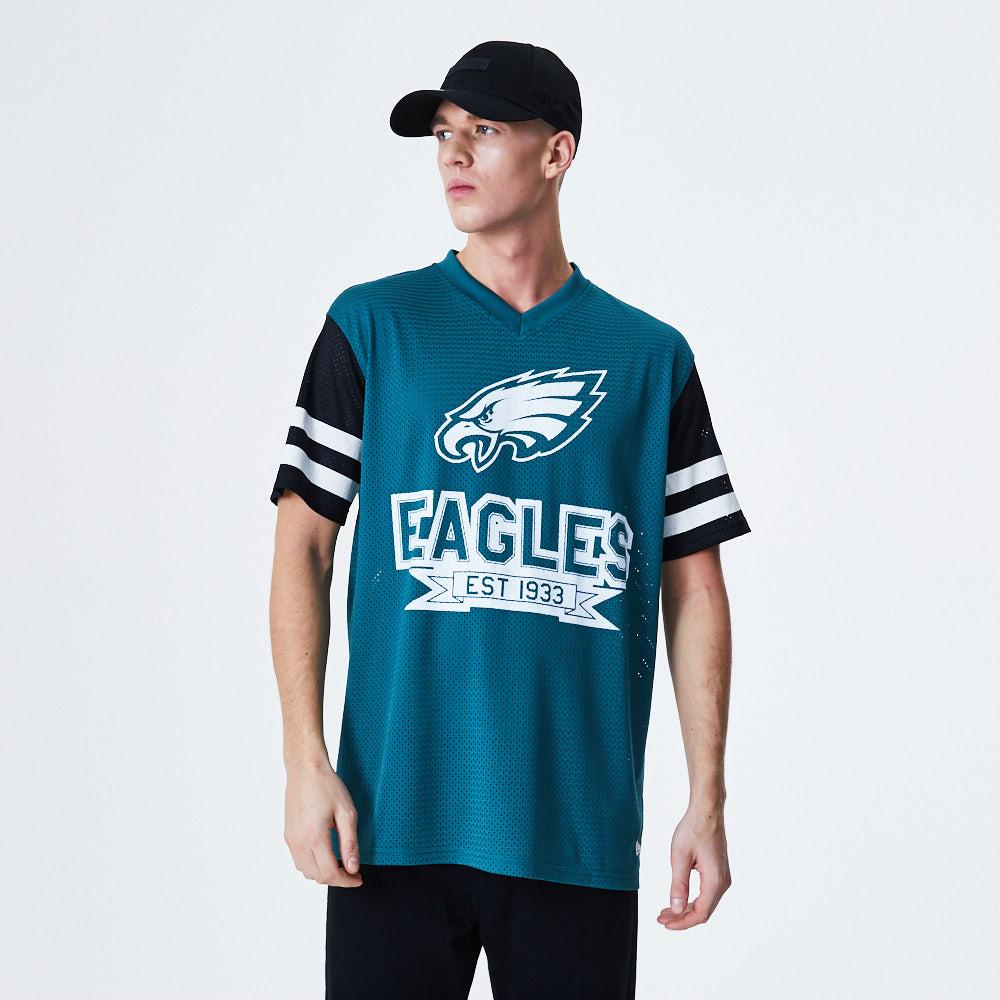 T-shirt oversize con maniche a contrasto Philadelphia Eagles blu