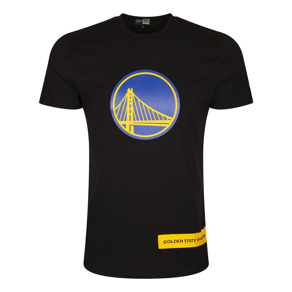 T-shirt noir avec inscription des Golden State Warriors