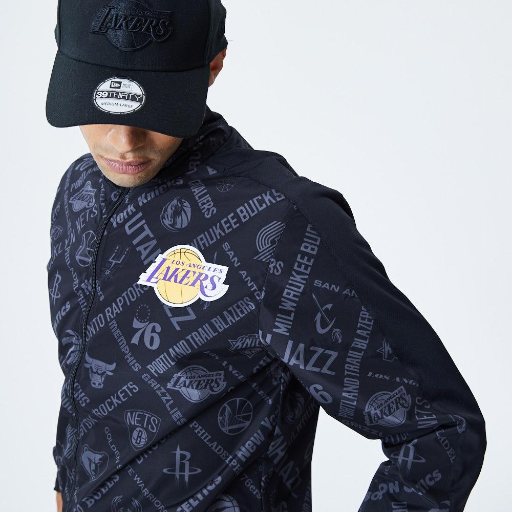 Veste de survêtement noire imprimée NBA Los Angeles Lakers