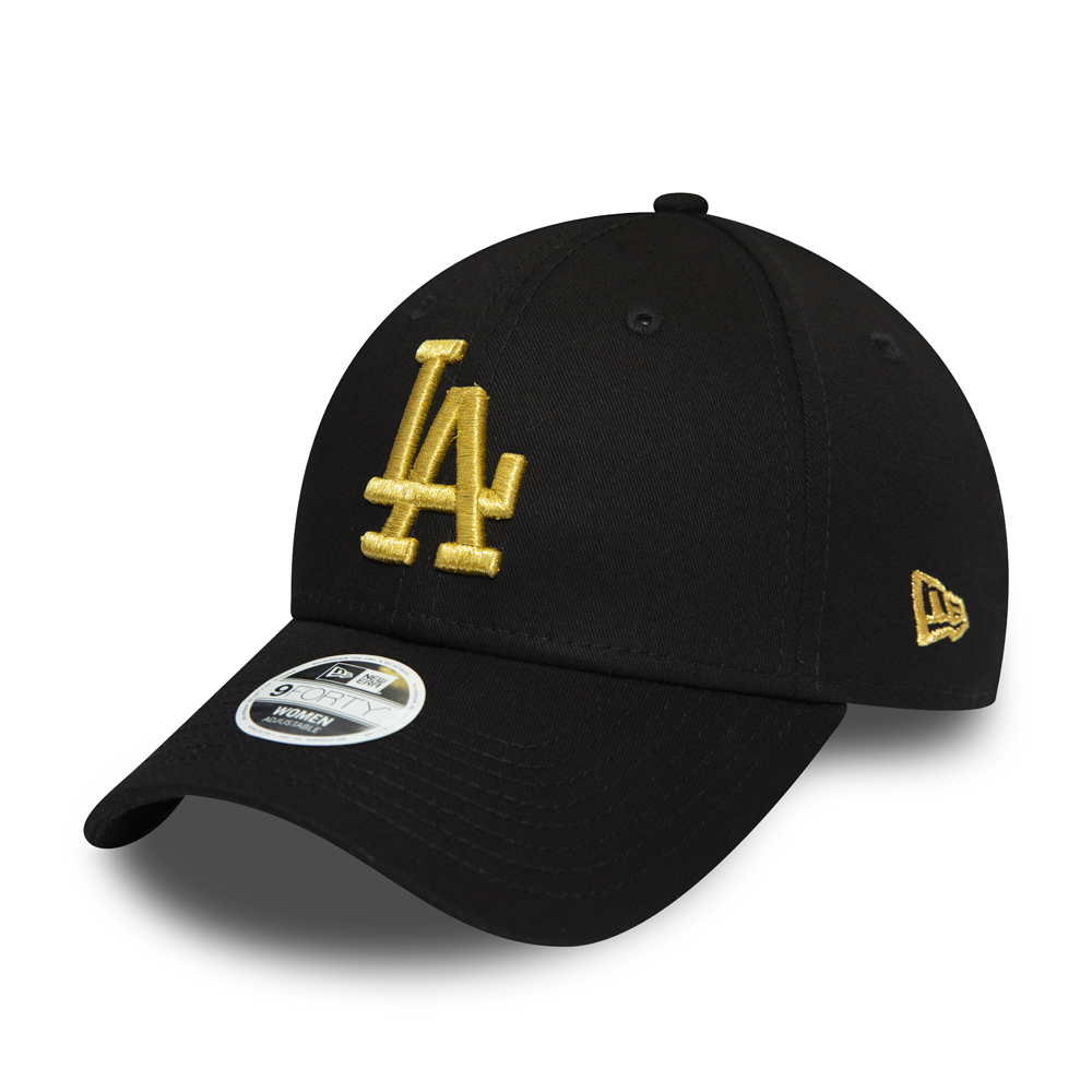 Gorra Los Angeles Dodgers Gold Metallic Logo 9FORTY, mujer
