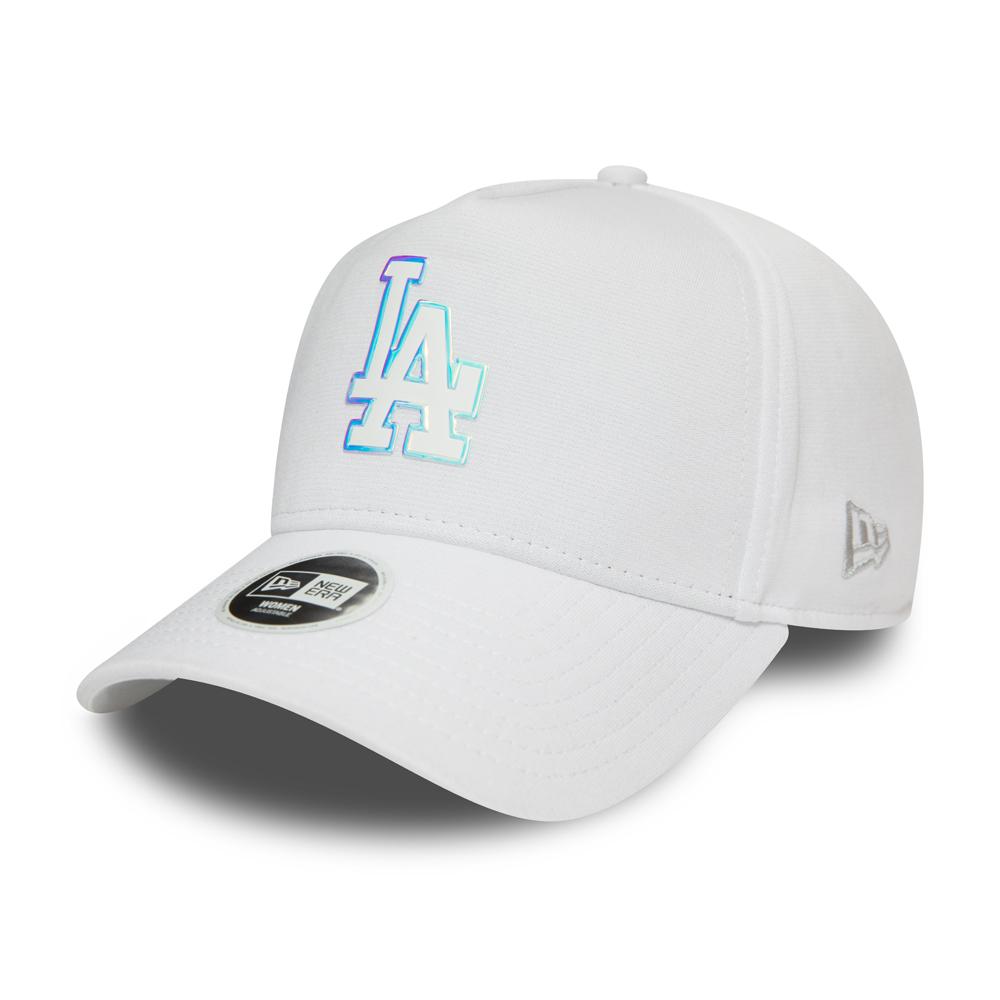 Gorra trucker Los Angeles Dodgers Iridescent Logo, mujer, blanco