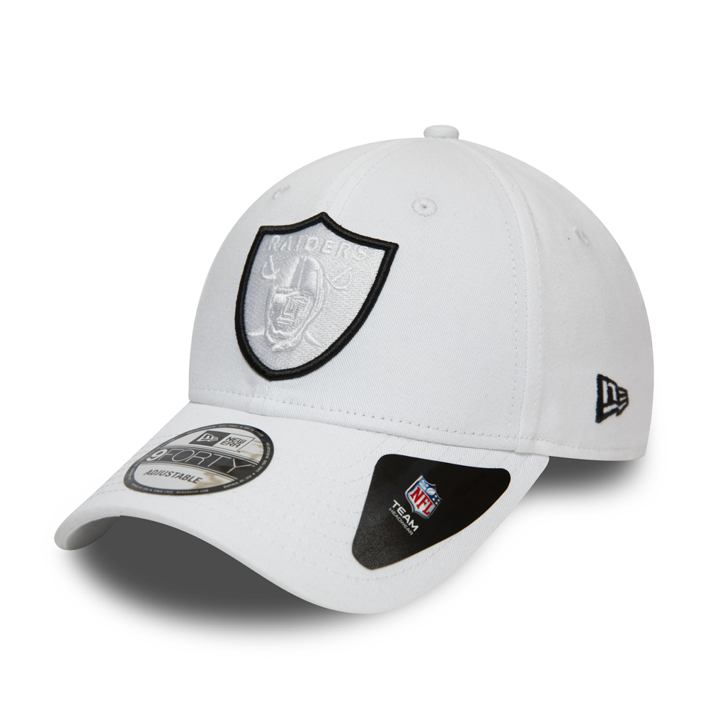 Oakland Raiders Logo Outline White 9FORTY Cap