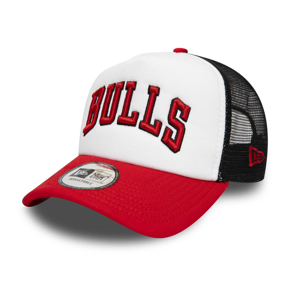 Gorra trucker A-Frame Chicago Bulls Color Block, blanco