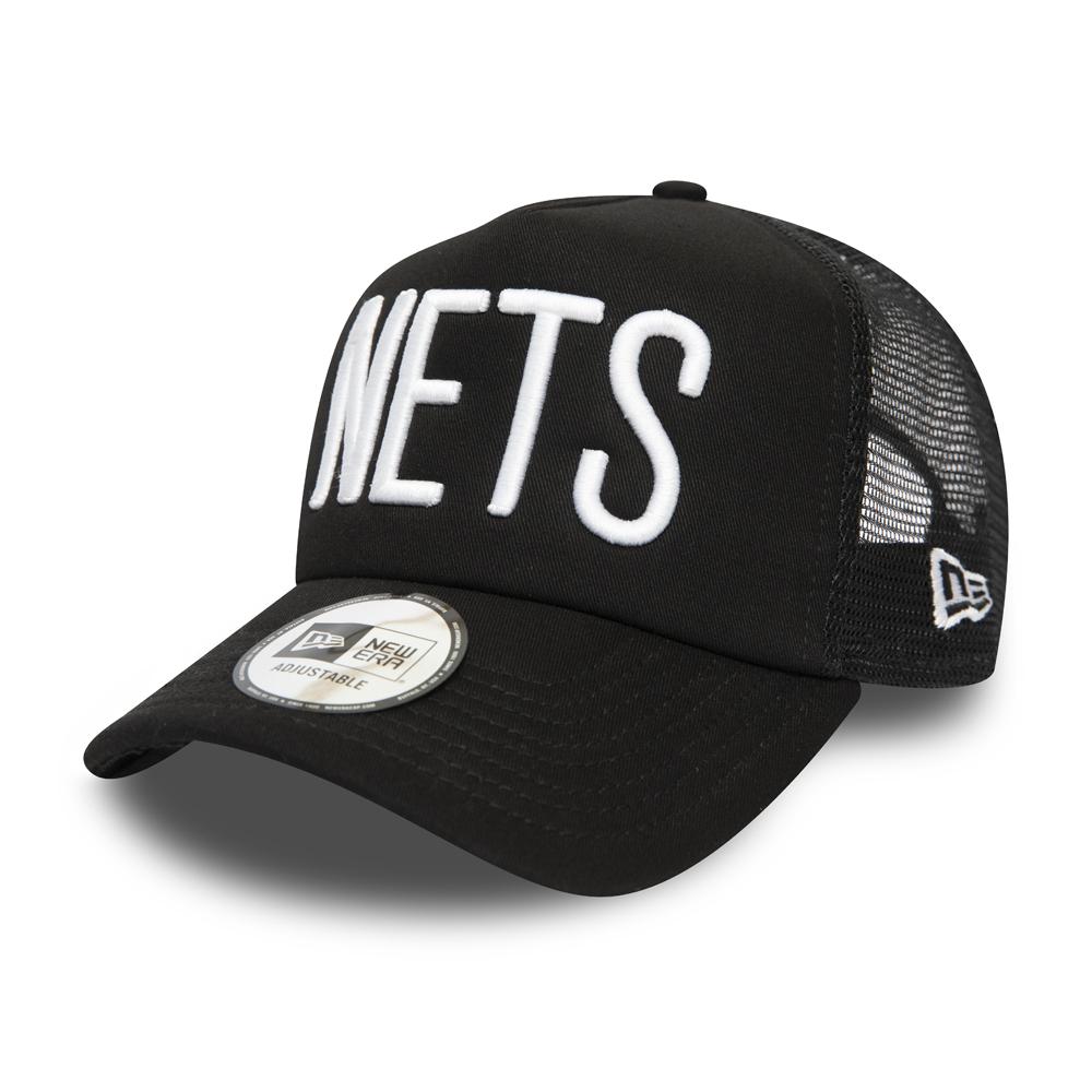 Cappellino Trucker A-Frame Brooklyn Nets nero