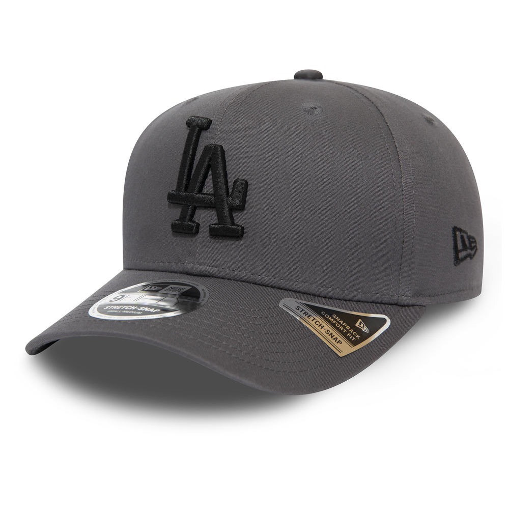 Los Angeles Dodgers Grey Stretch Snap 9FIFTY Cap