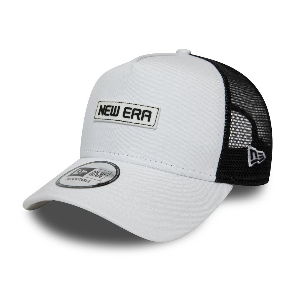 Gorra trucker A-frame New Era Essential, blanco