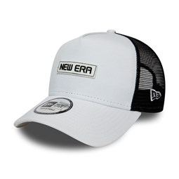 Gorra trucker A-frame New Era Essential, blanco