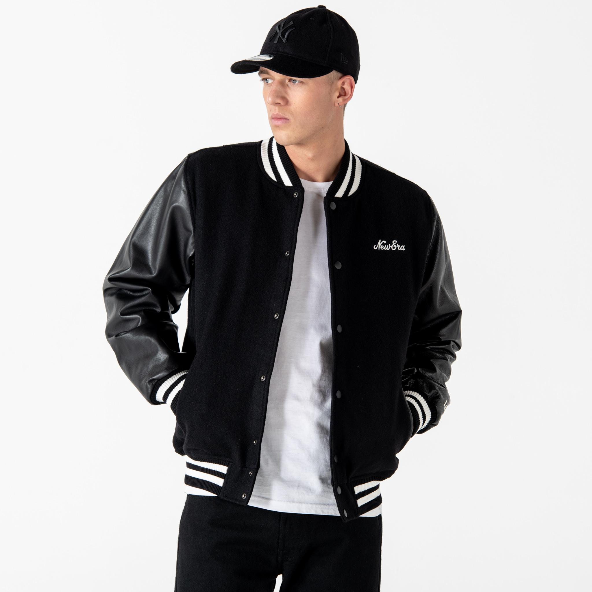 New Era Icons Black Varsity Jacket