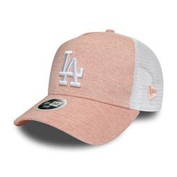 """Los Angeles Dodgers """"Jersey Essential""""Trucker-Damenkappe mit A-Frame in Pink"""
