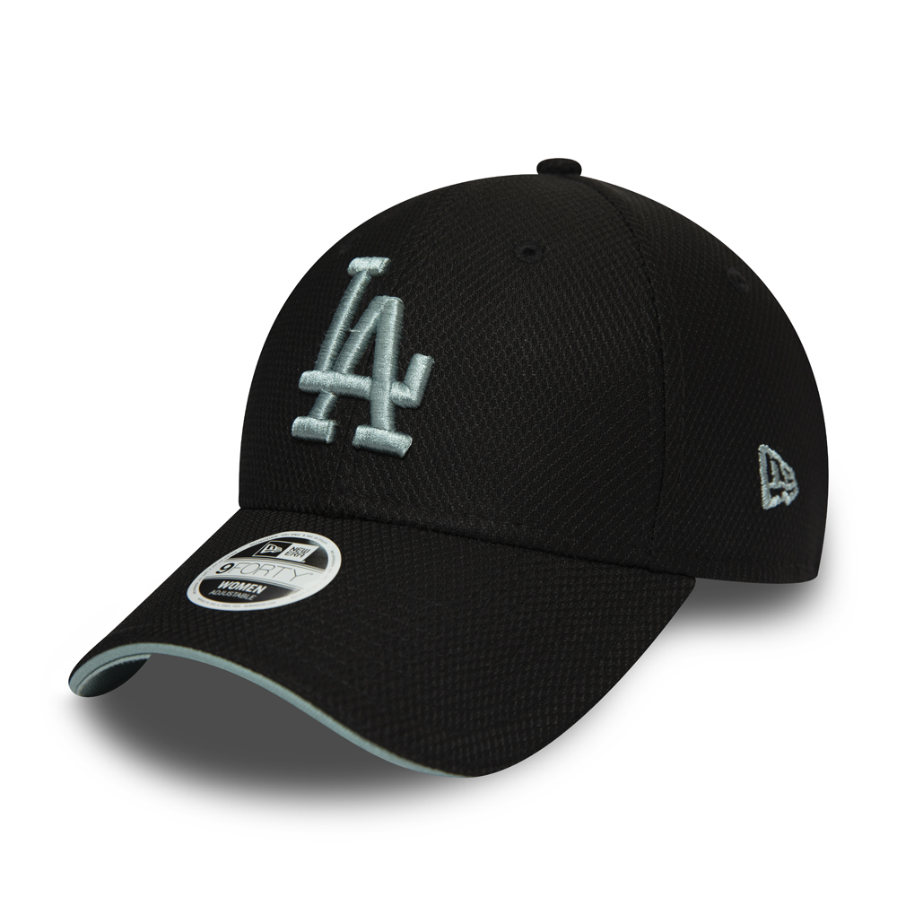 Los Angeles Dodgers Diamond Era Piping Detail Visor Black 9FORTY Cap