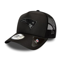 New England Patriots Tonal Black A-Frame Trucker