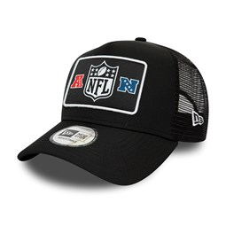 NFL Logo Patch Black A-Frame Trucker
