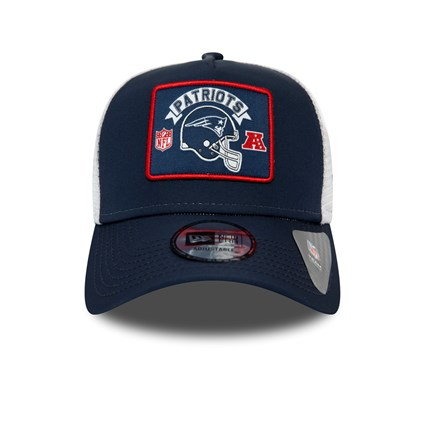 New England Patriots Patch Navy A-Frame Trucker