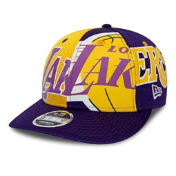 Gorra Los Angeles Lakers All Over Low Profile 9FIFTY, morado