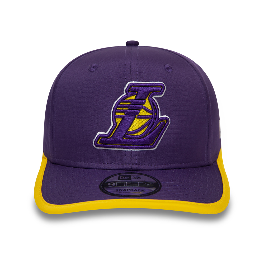 Los Angeles Lakers Piping Detail Visor Purple 9FIFTY Cap