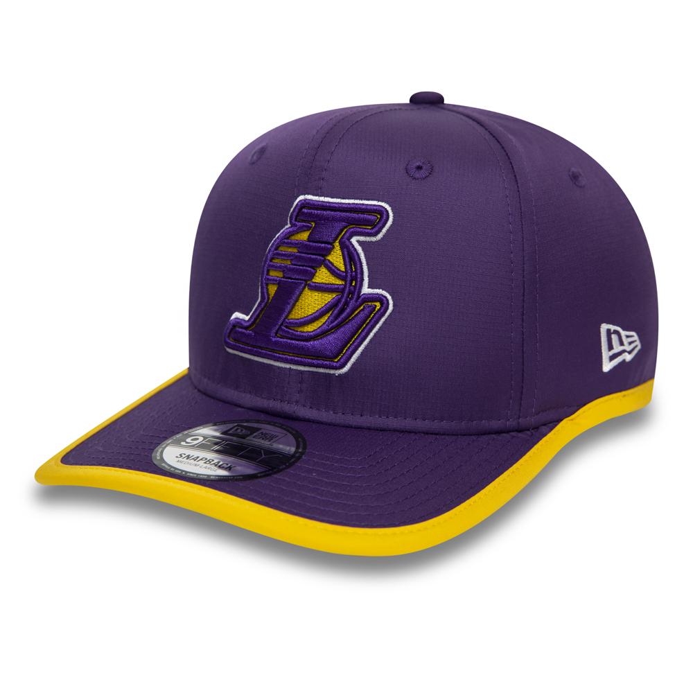 Los Angeles Lakers 9FIFTY-Kappe mit Schirm und Paspelierung in Violett