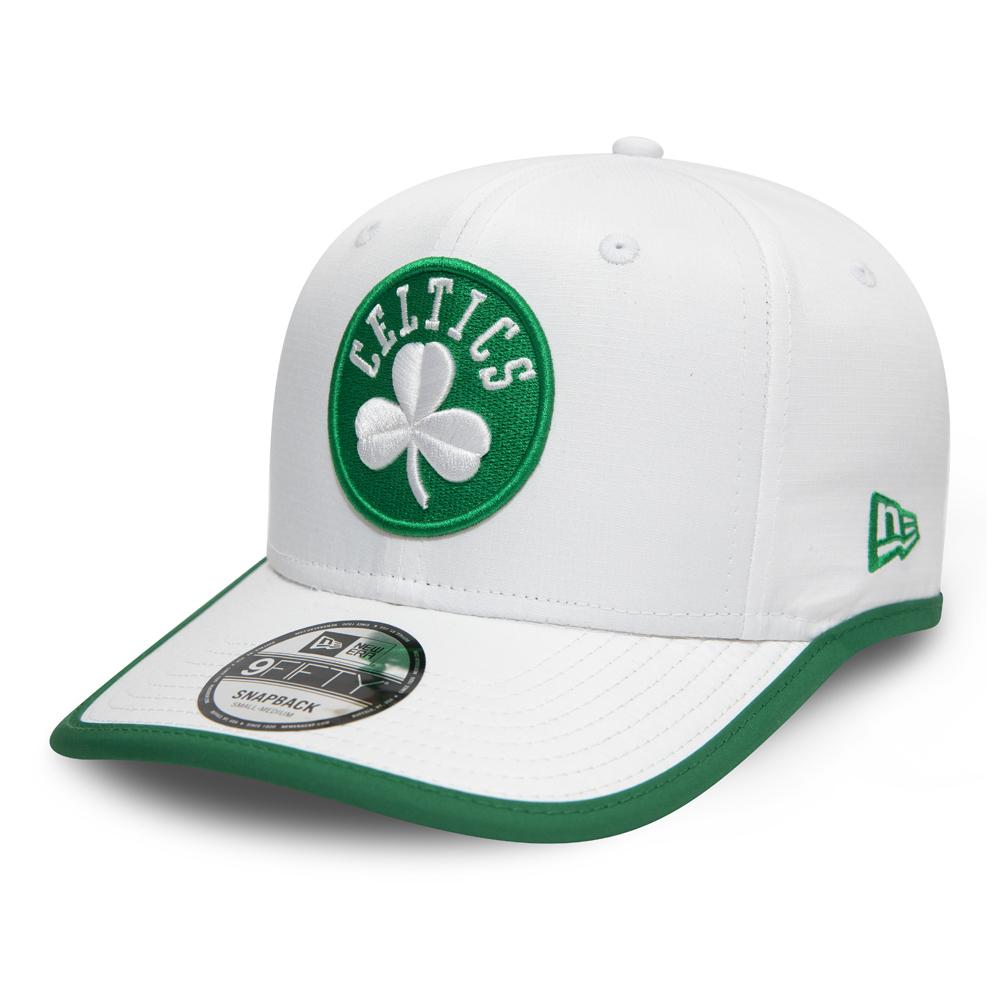 Cappellino 9FIFTY Boston Celtics con visiera profilata bianco