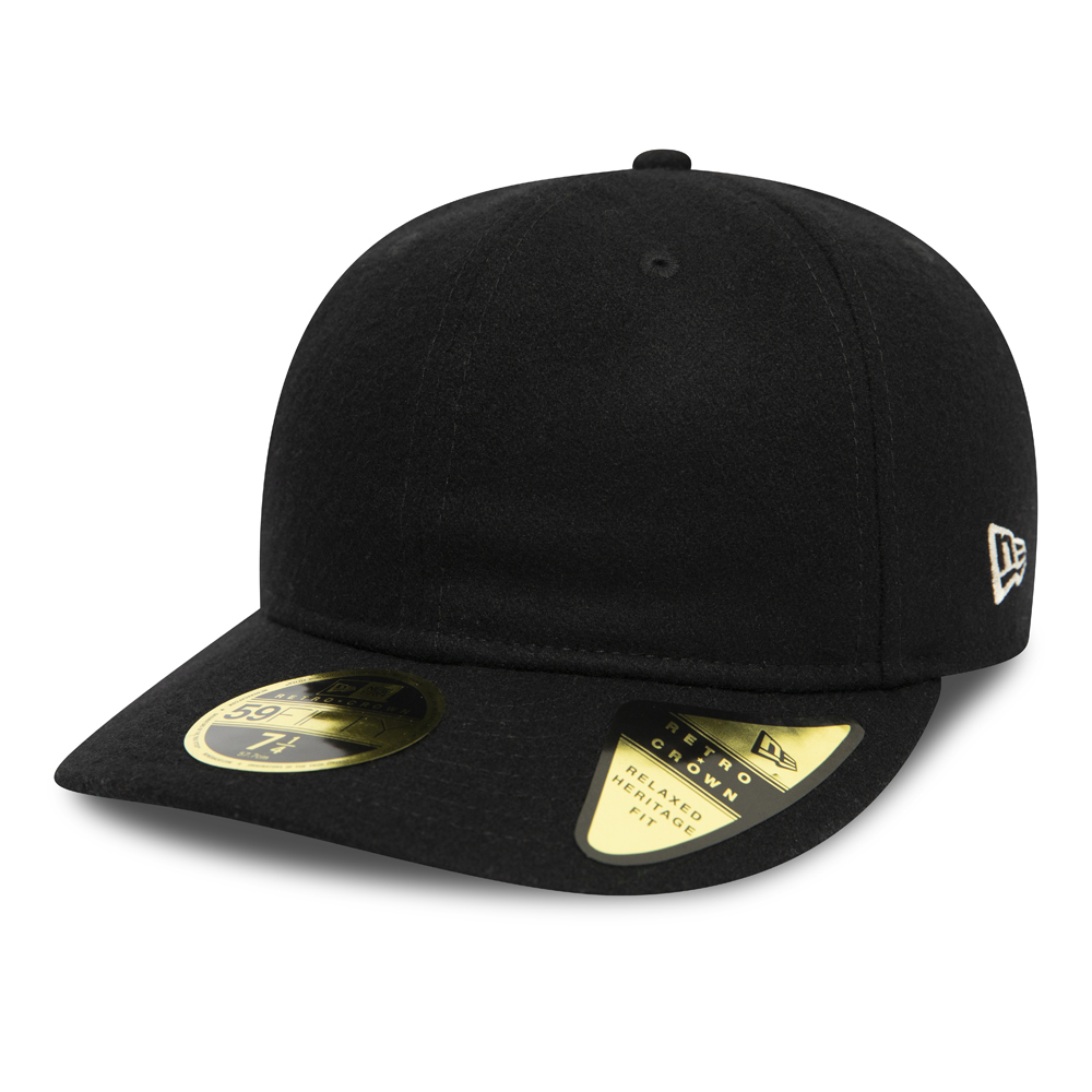 Gorra New Era Icons Retro Crown 59FIFTY, negro con parte inferior verde