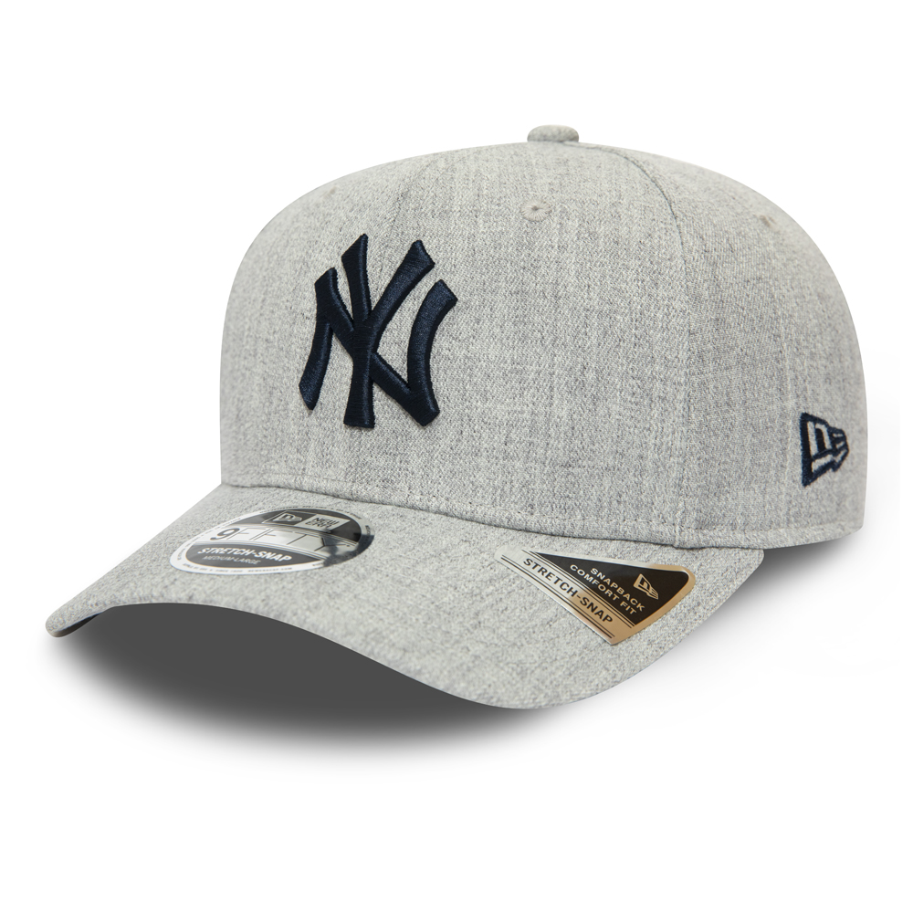New York Yankes Heather Base Grey Stretch Snap 9FIFTY Cap