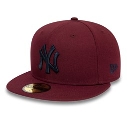 Cappellino 59FIFTY New York Yankees bordeaux