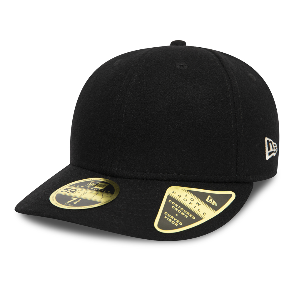 Gorra New Era Icons 59FIFTY Low Profile, negro con parte inferior verde