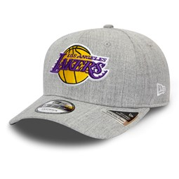 Los Angeles Lakers Heather Base Grey Stretch Snap 9FIFTY Cap