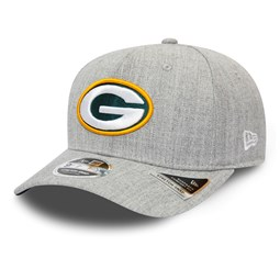 Green Bay Packers Heather Base Grey Stretch Snap 9FIFTY Cap
