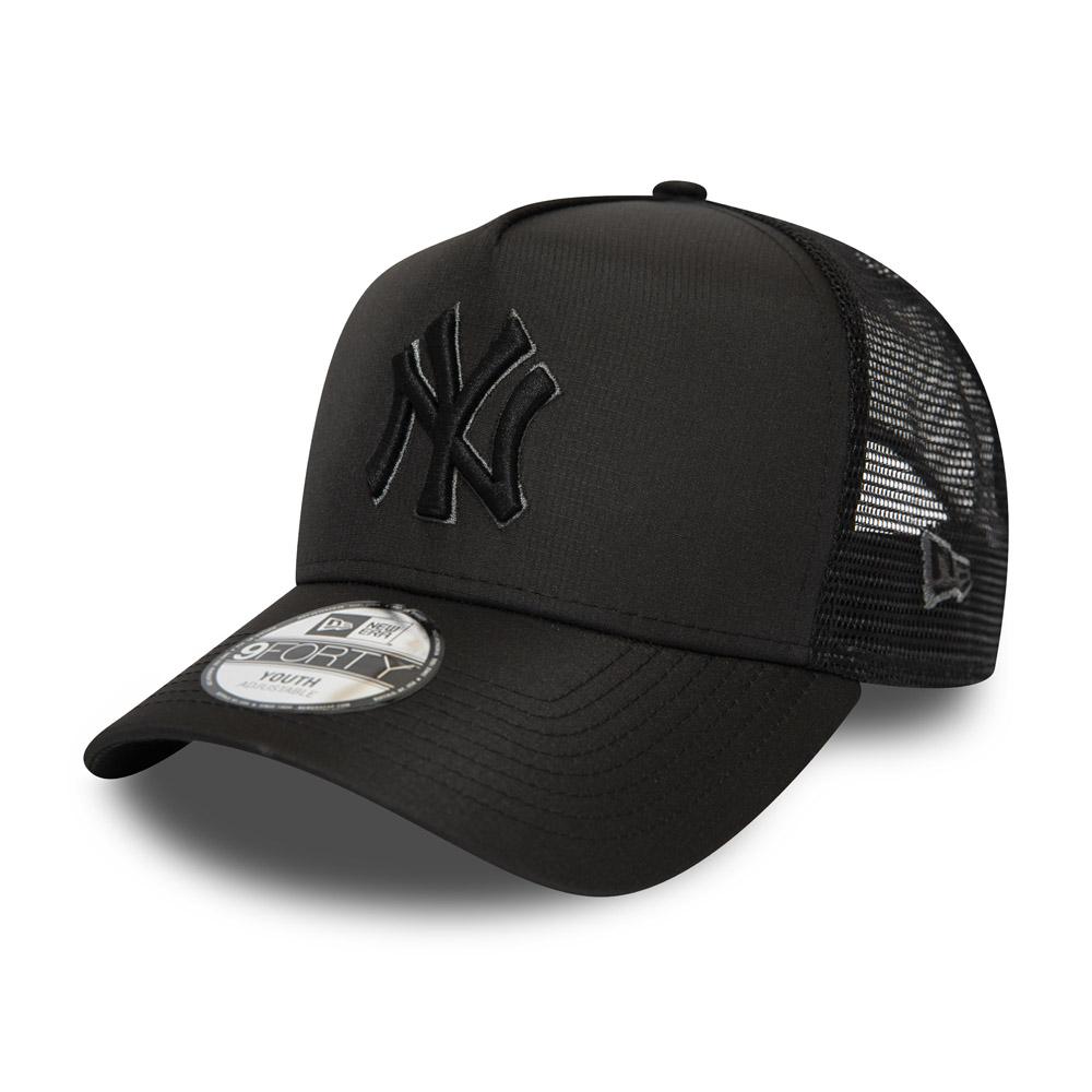 Cappellino Trucker A-Frame New York Yankees bambino nero tono su tono