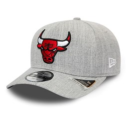 Chicago Bulls Heather Base Kids Grey Stretch Snap 9FIFTY Cap