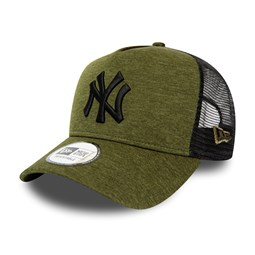 New York Yankees Shadow Tech Green A-Frame Trucker