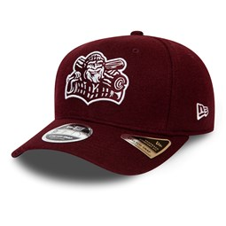 Gorra Williamsport Crosscutters Minor League Stretch Snap 9FIFTY, granate